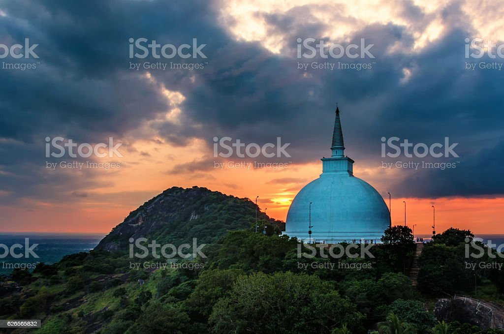 Dagoba sri lanka stock photo