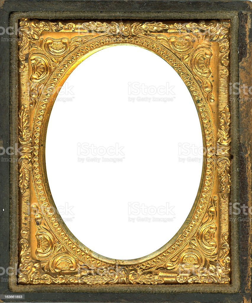Daguerreotype Frame with Clipping Path stock photo