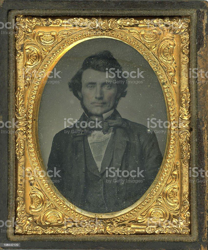 Daguerreotype image of a man stock photo