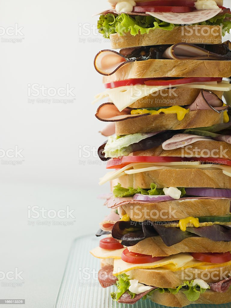 Dagwood Tower Sandwich royalty-free stock photo