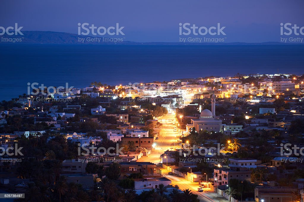 Dahab at night stock photo