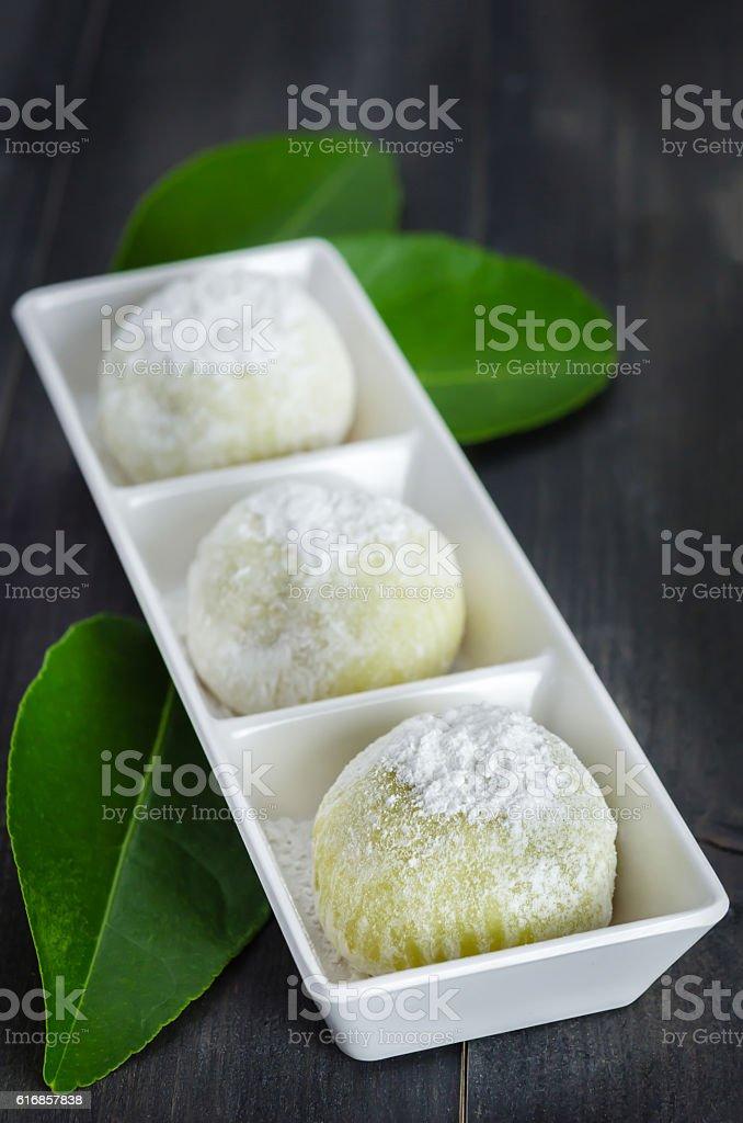 Daifuku Mochi Japanese dessert stock photo