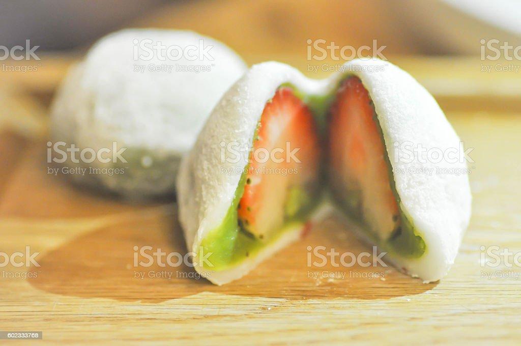 Daifuku mochi or Japanese dessert stock photo