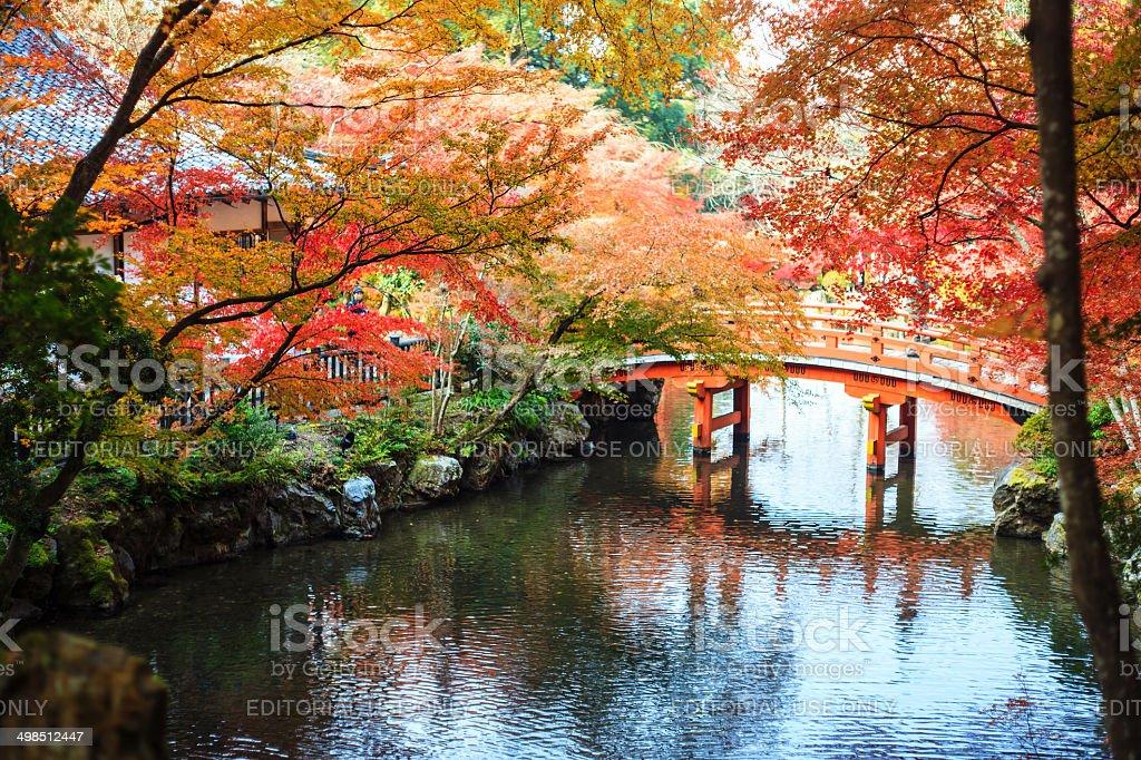 Daigo-ji is a Shingon Buddhist temple in Fushimi-ku, Kyoto, Japan stock photo