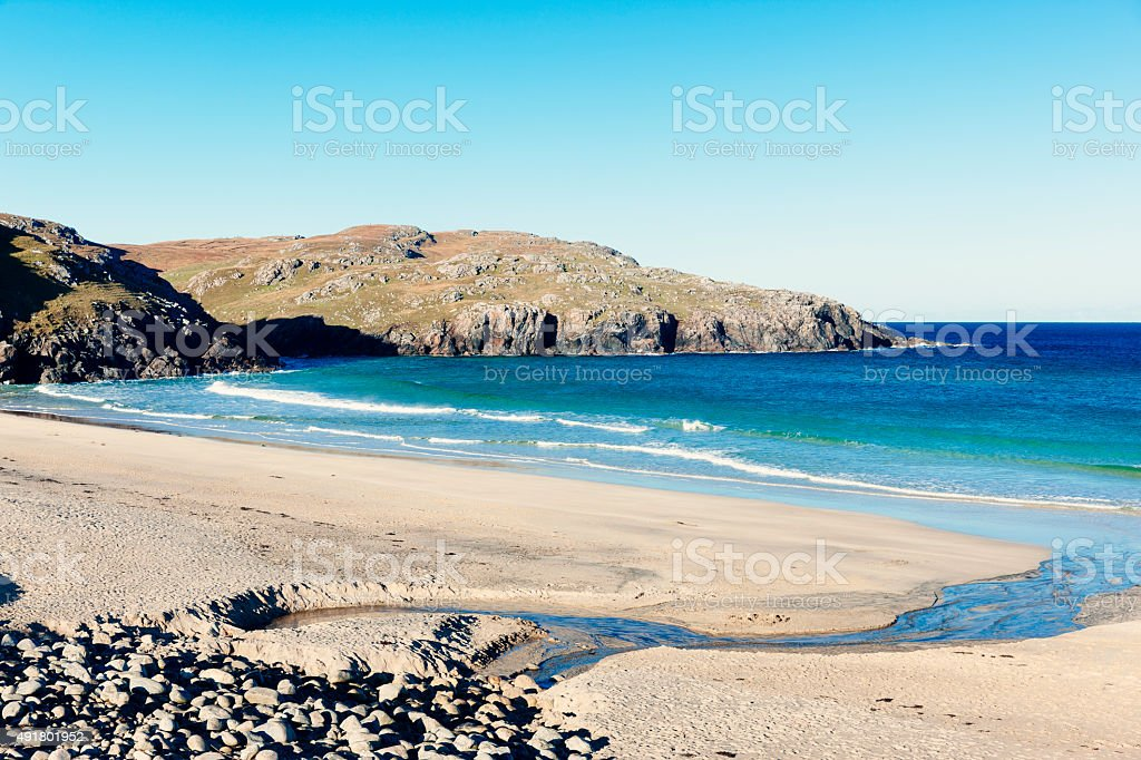 Dail Mor bay, Lewis and Harris, Scotland stock photo