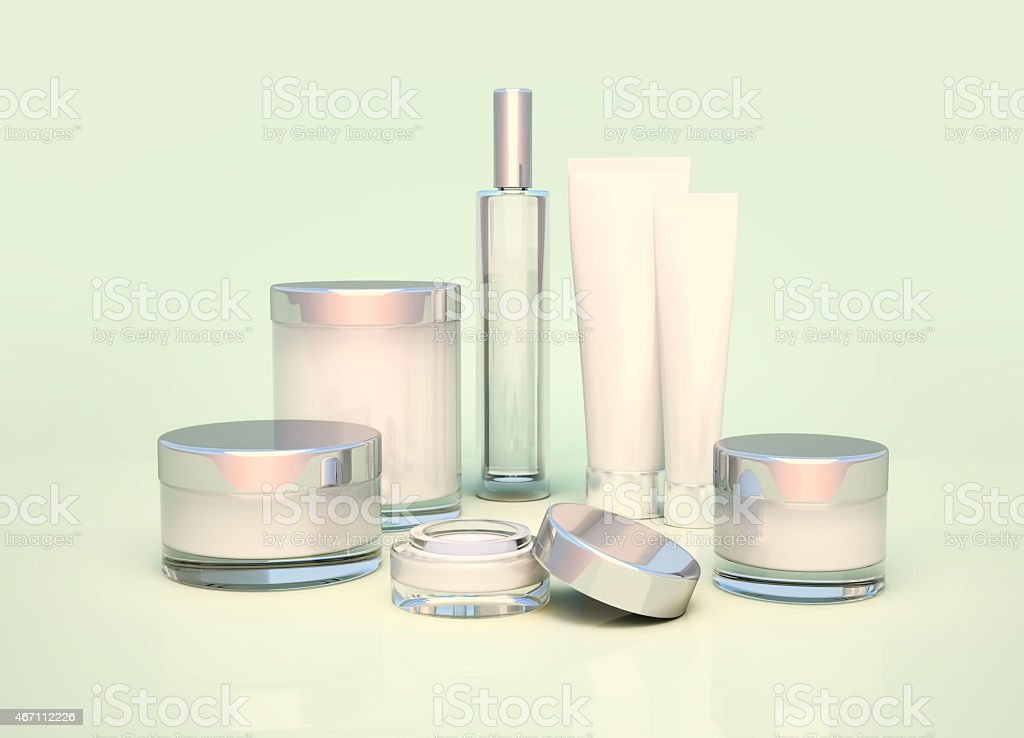 Daily, beauty care cosmetic. Face cream, eye cream. stock photo