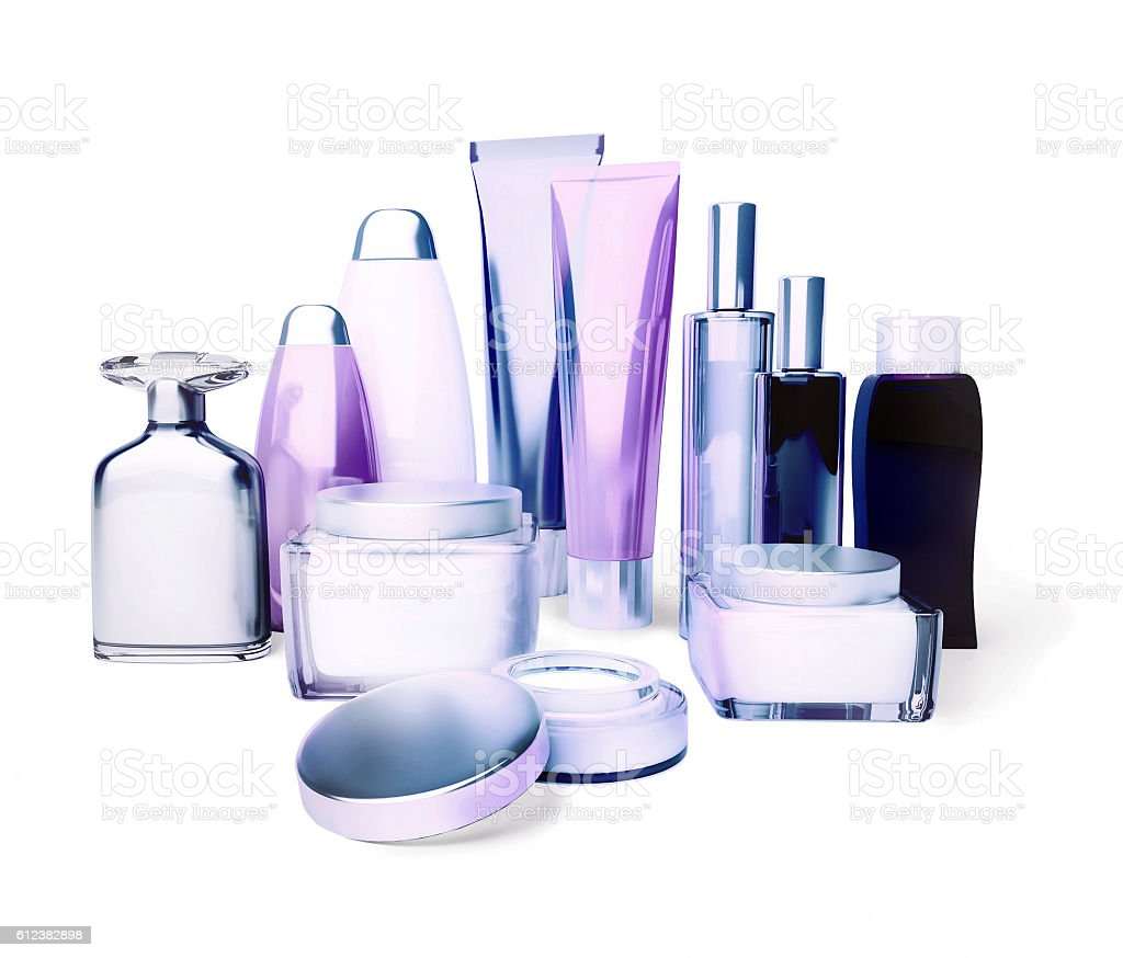 Daily, beauty care cosmetic. Face cream. stock photo