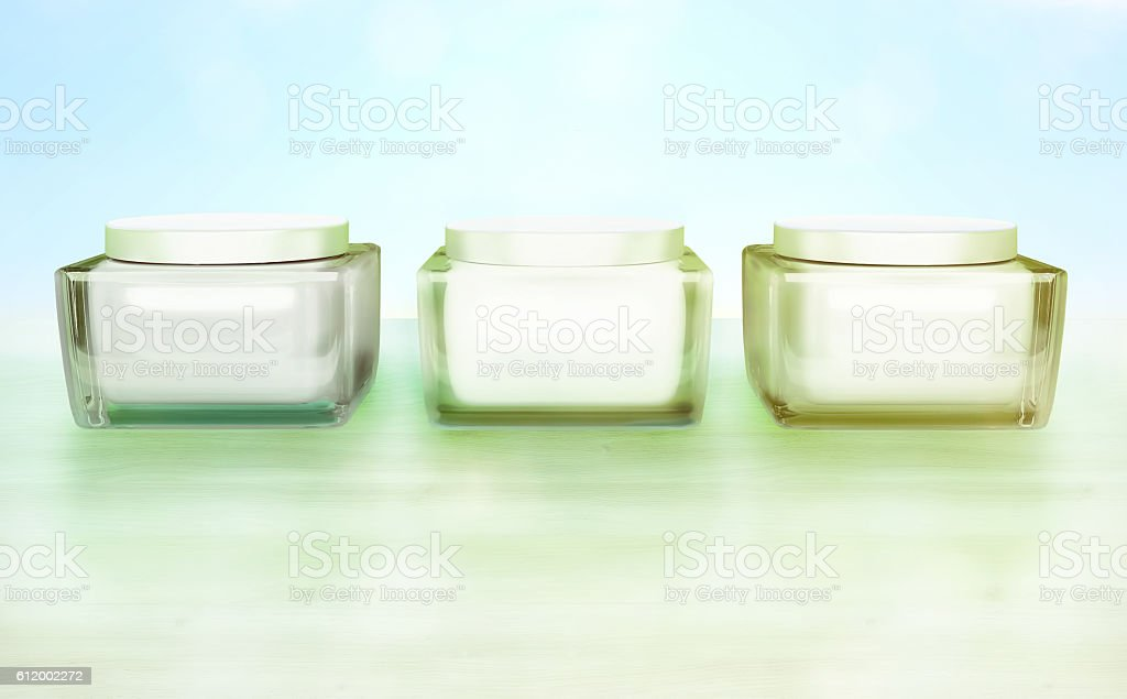 Daily, beauty care cosmetic. Face creams. Skin care. stock photo