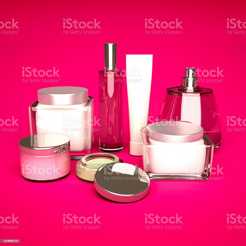 Daily, beauty care cosmetic. stock photo