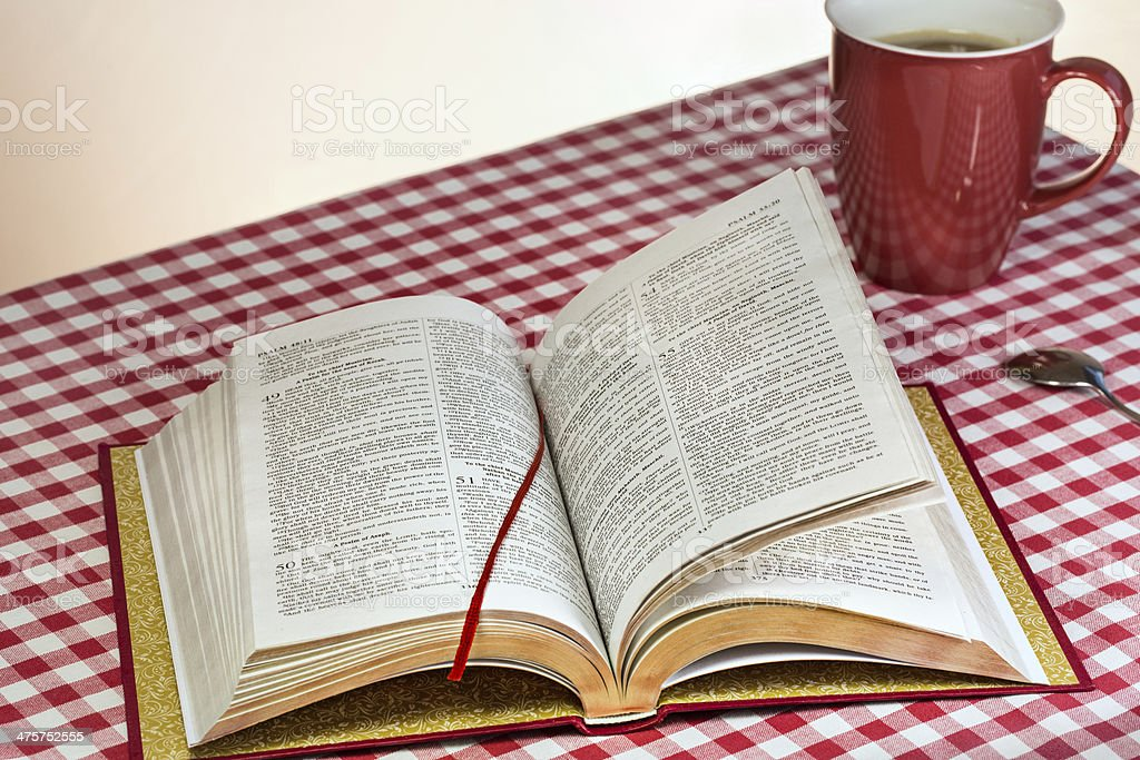 Daily Bible reading royalty-free stock photo