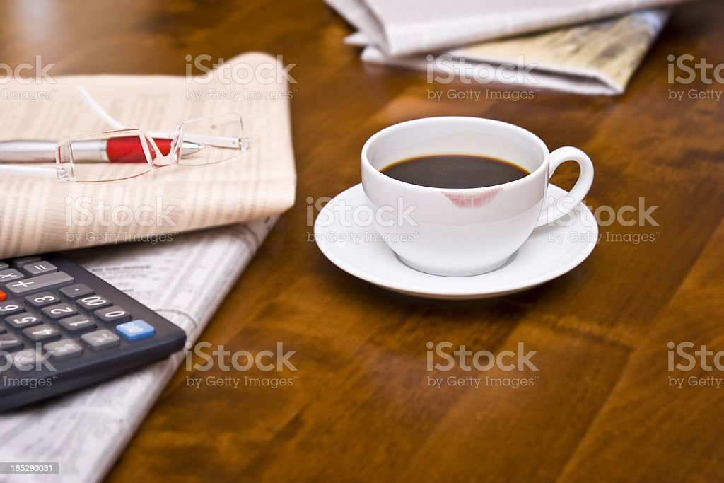 Daily Business Start royalty-free stock photo