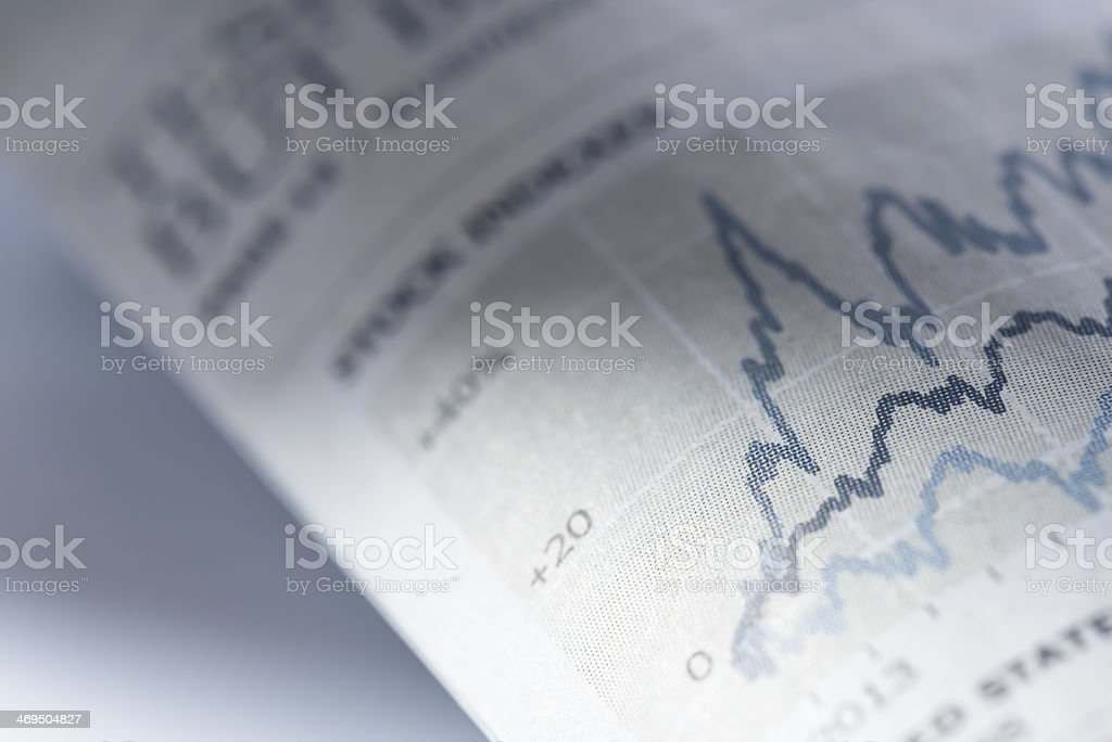 Daily changes and chart. stock photo