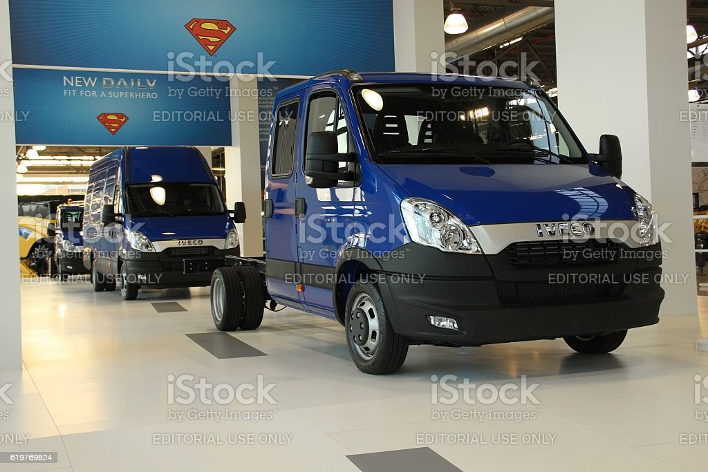 IVECO Daily commercial vehicles stock photo