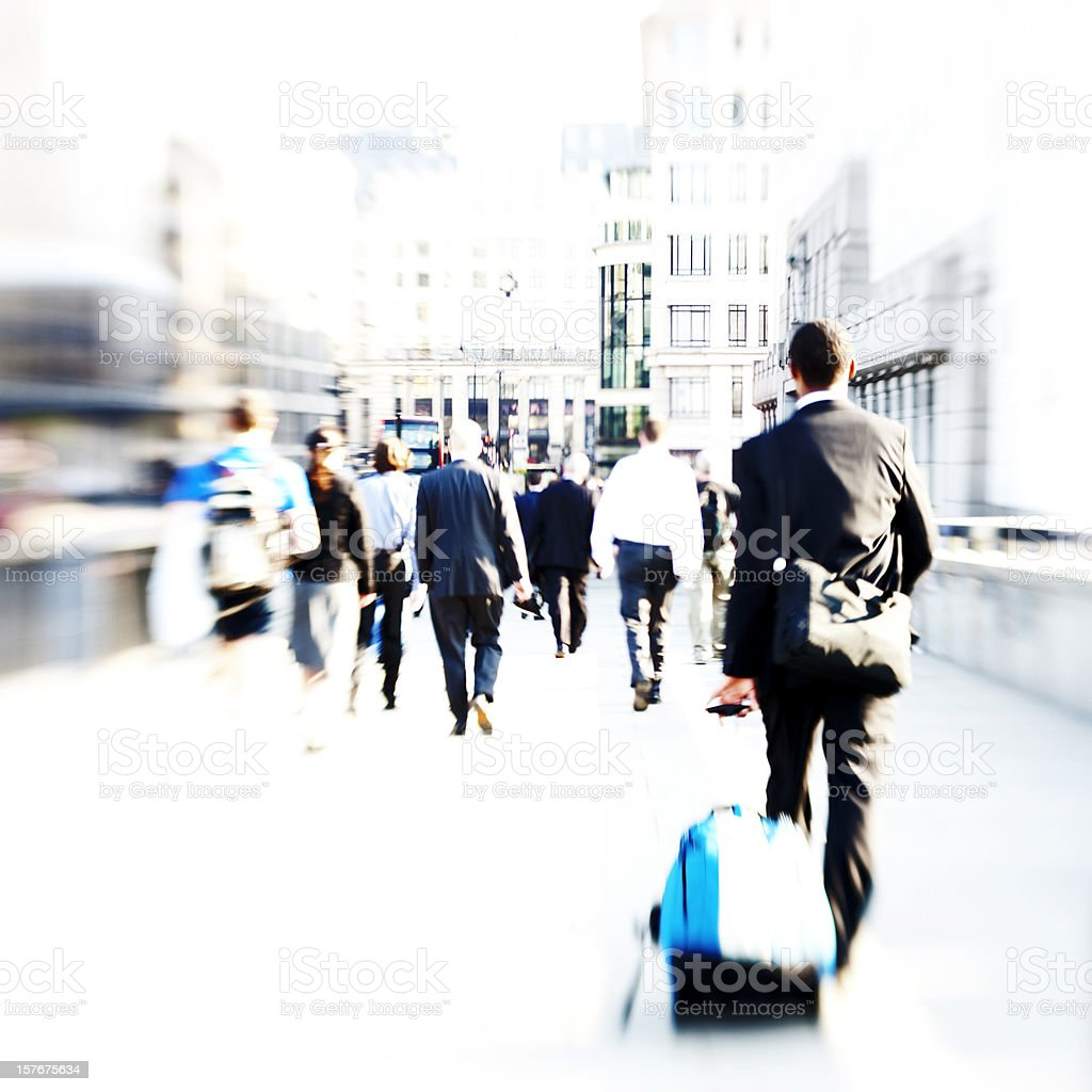 Daily commute royalty-free stock photo