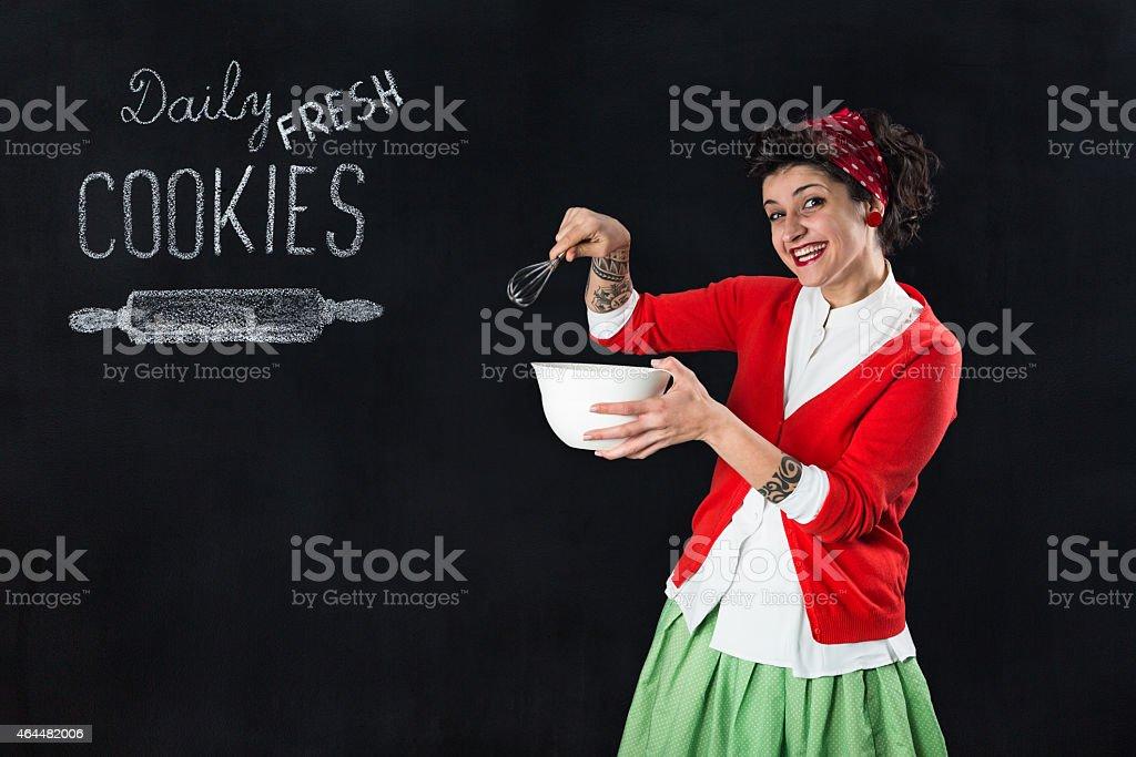 Daily fresh cookies stock photo