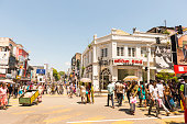 Daily hustle and bustle on the street in the Kandy