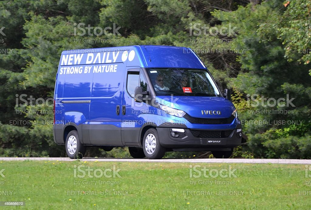 IVECO Daily in motion stock photo