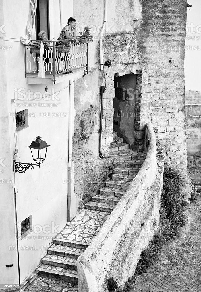Daily life in Castellammare del Golfo, Sicily stock photo