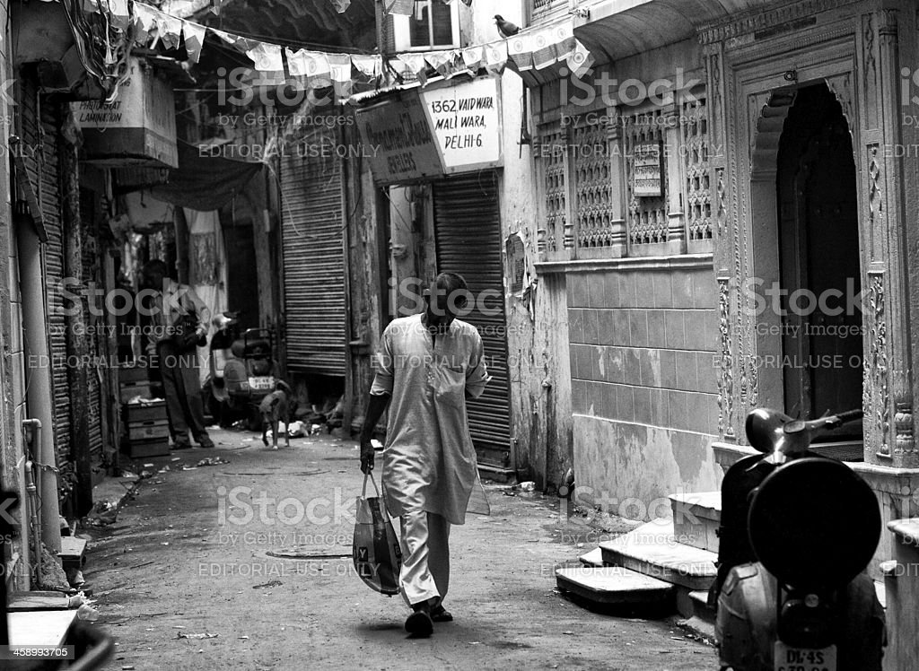 Daily life in New Delhi, India royalty-free stock photo