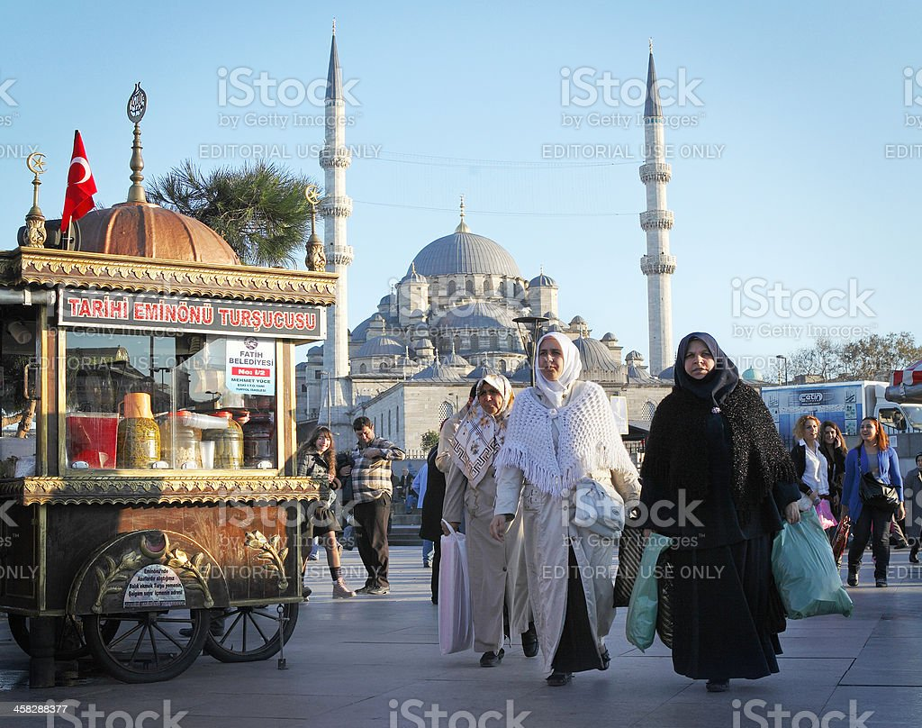 Daily life in the centre of Istanbul stock photo