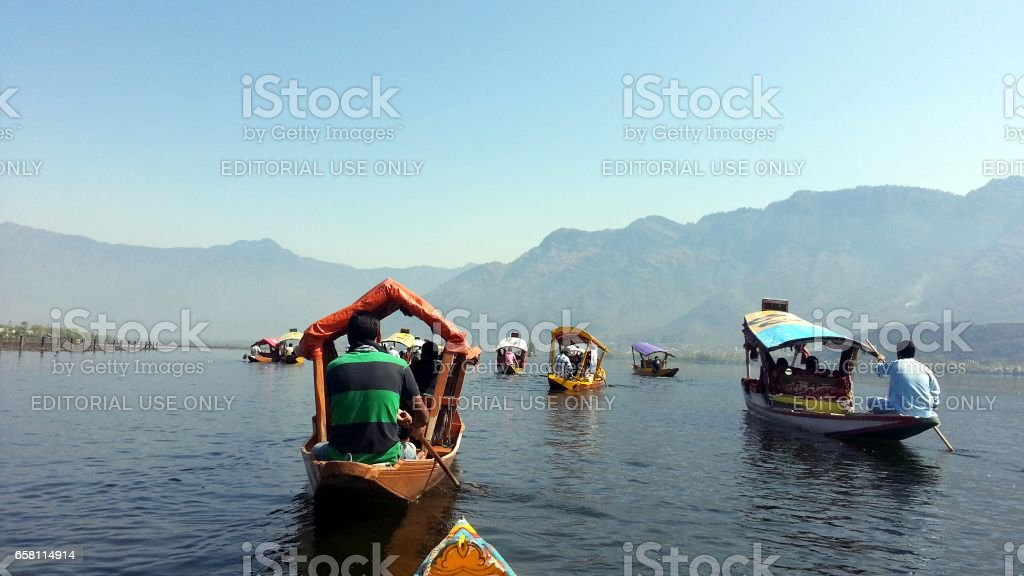 Daily life of Kashmiri people stock photo