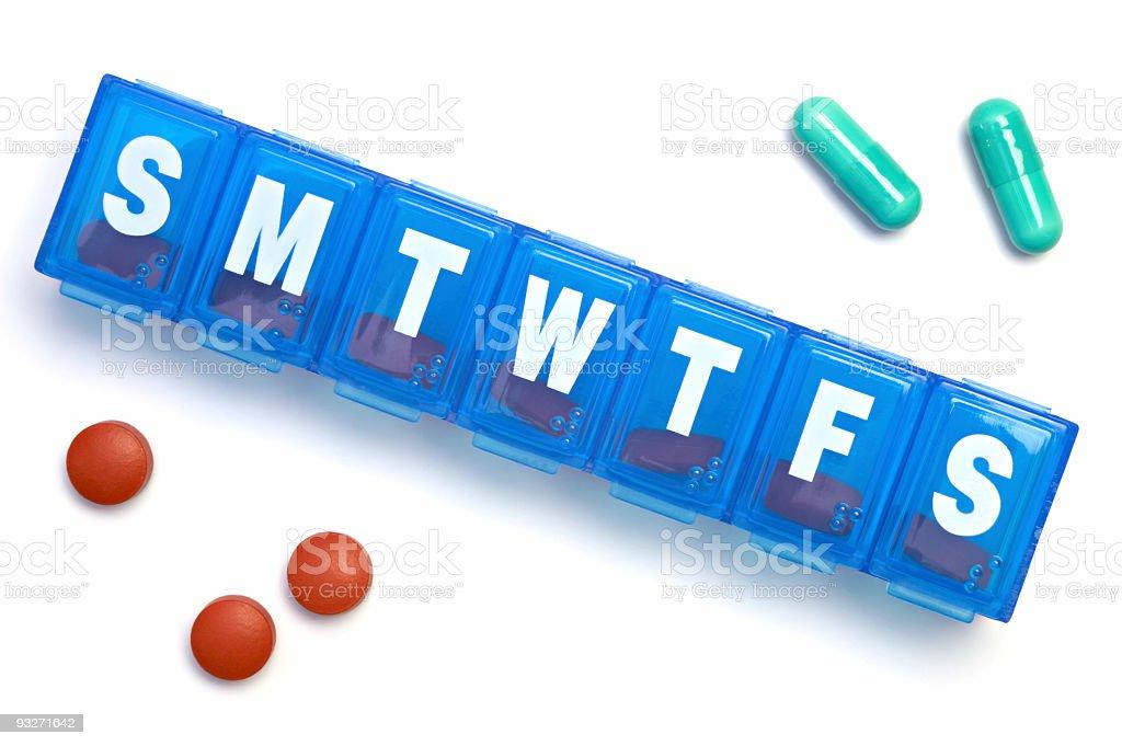 Daily Meds stock photo