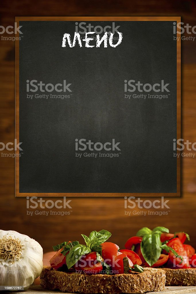 Daily Menu royalty-free stock photo