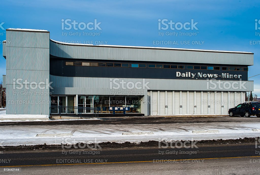 Daily News Miner stock photo