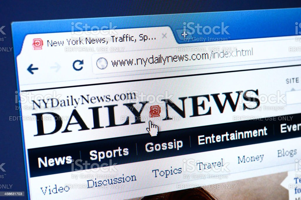 Daily News webpage on the browser royalty-free stock photo