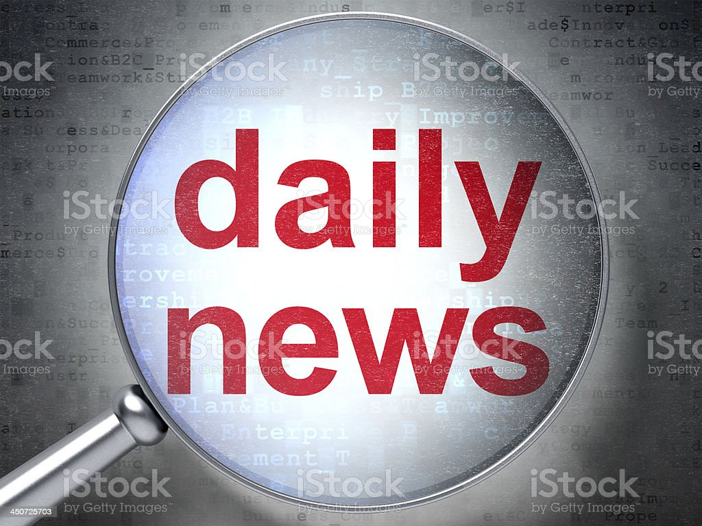 Daily News with optical glass royalty-free stock photo