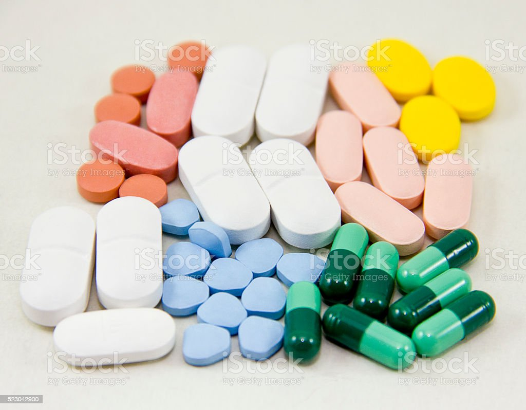 Daily Pills, Drugs, Supplements stock photo