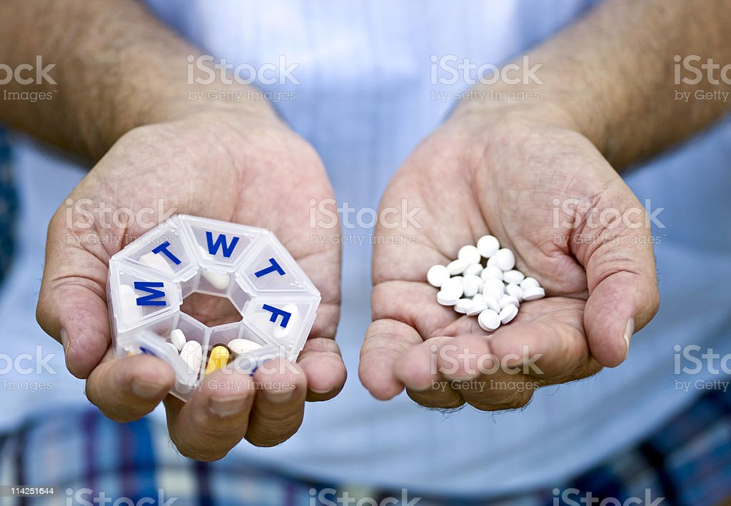 Daily pills royalty-free stock photo