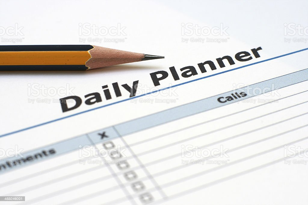 Daily planner royalty-free stock photo