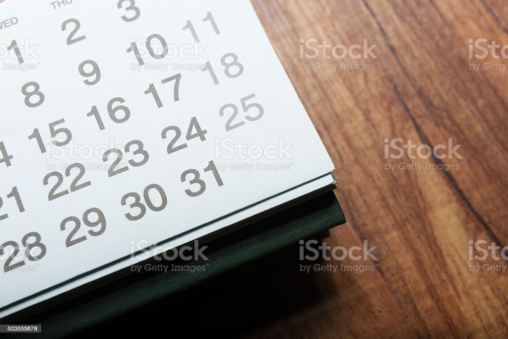 Daily plans stock photo