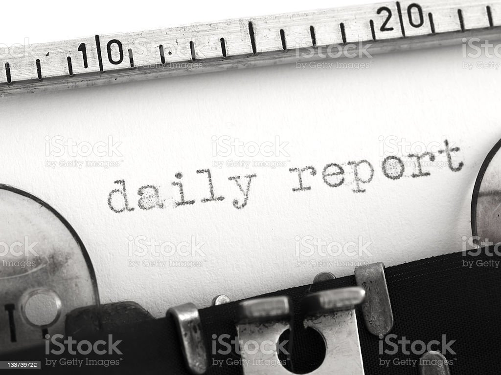 daily report royalty-free stock photo