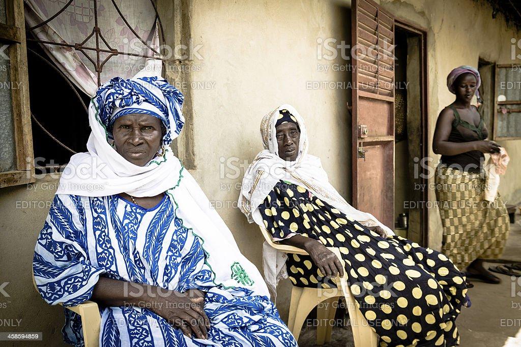 Daily scene in Africa stock photo