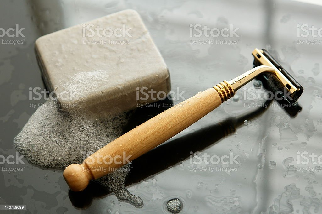 daily shave royalty-free stock photo