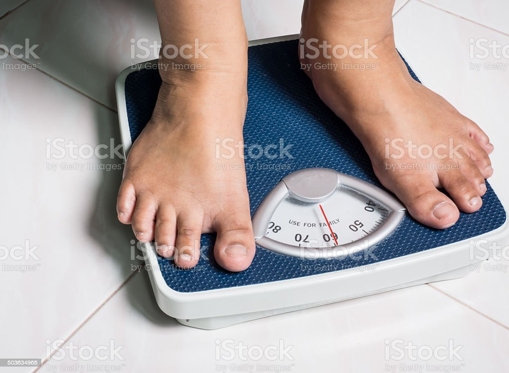 Daily weight stock photo