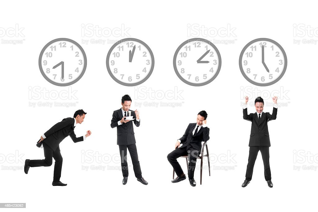 Daily Work Life of Businessman royalty-free stock photo