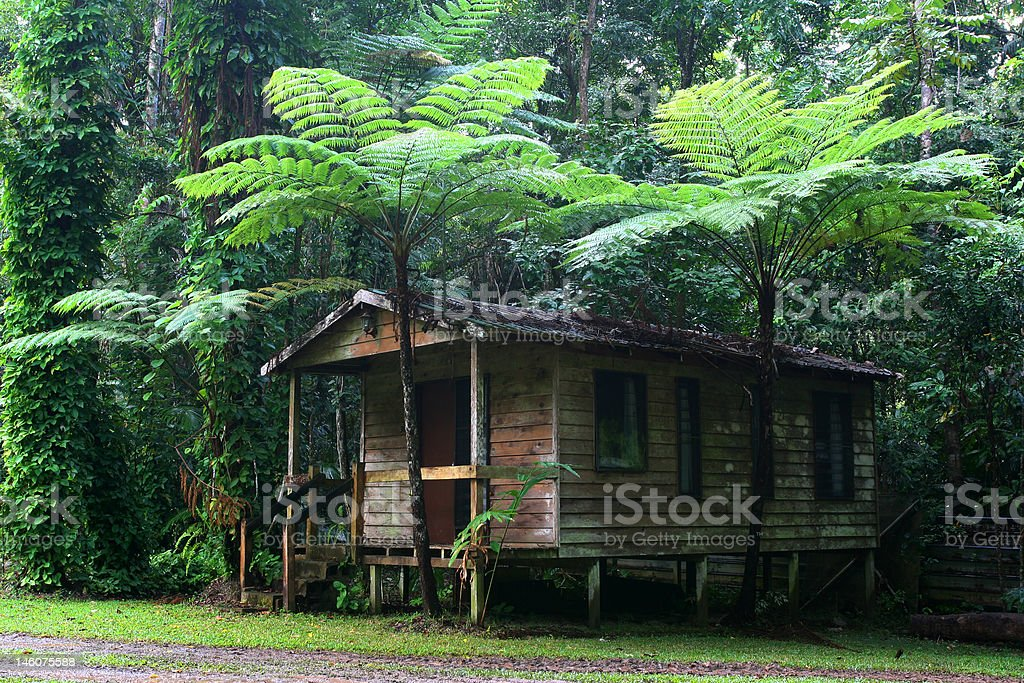 daintree cottage royalty-free stock photo