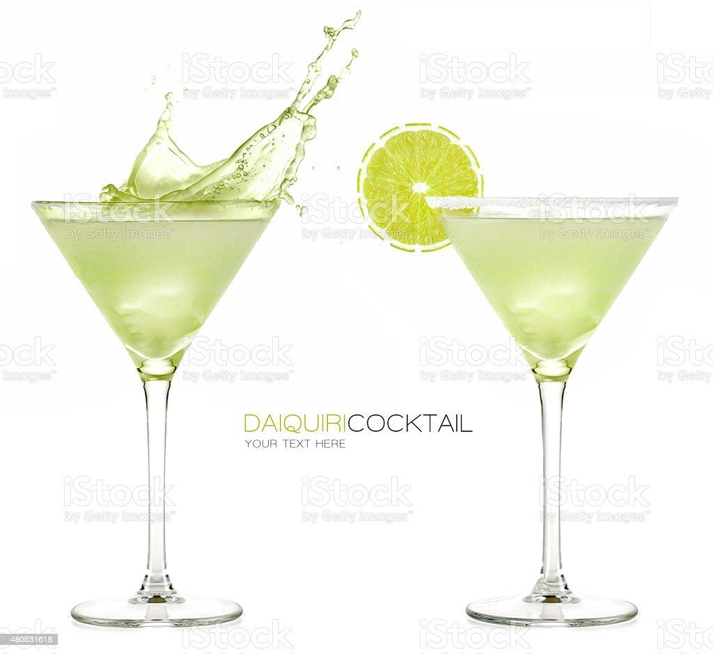 Daiquiri Frozen Cocktail. Splashes stock photo