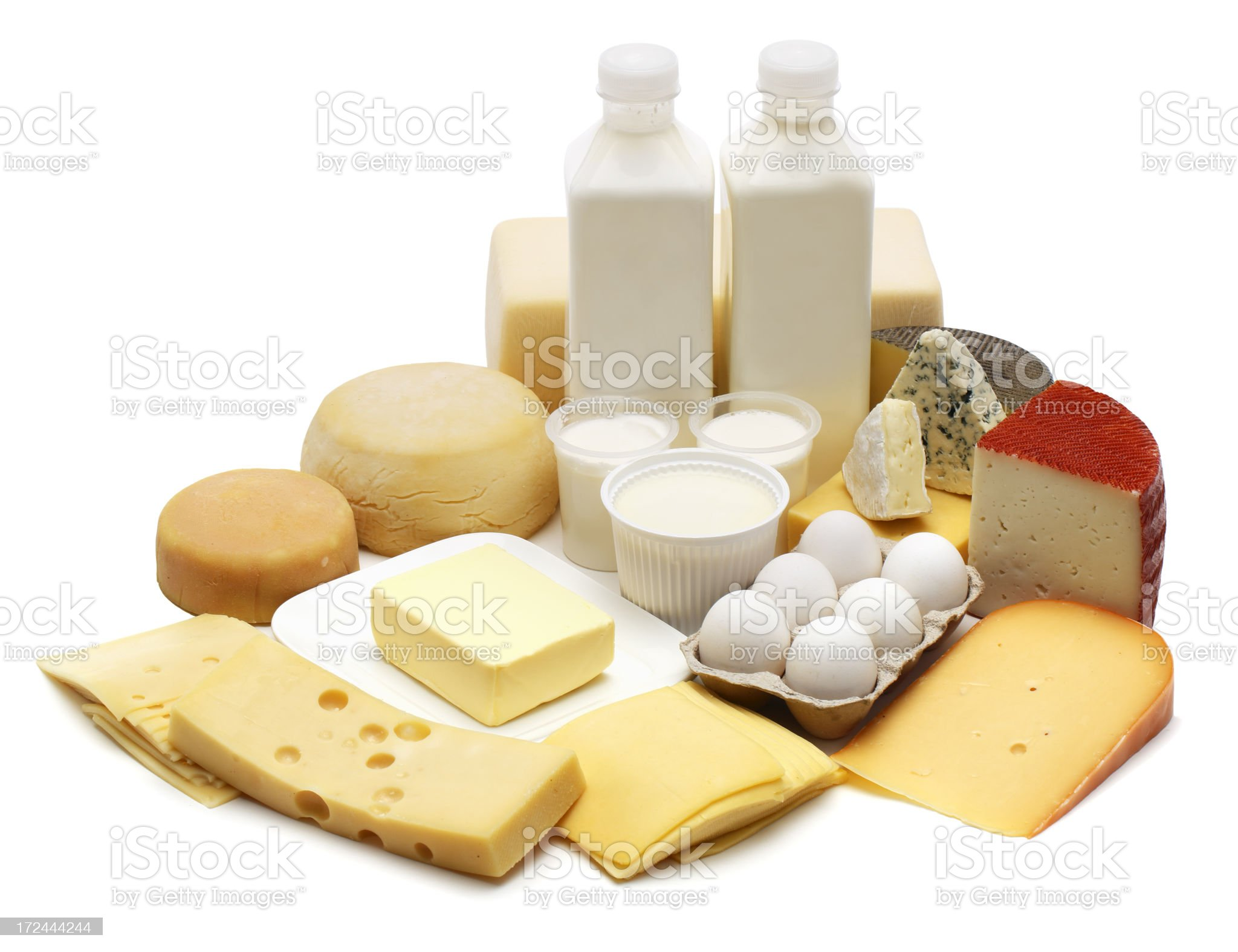 Dairies and eggs royalty-free stock photo