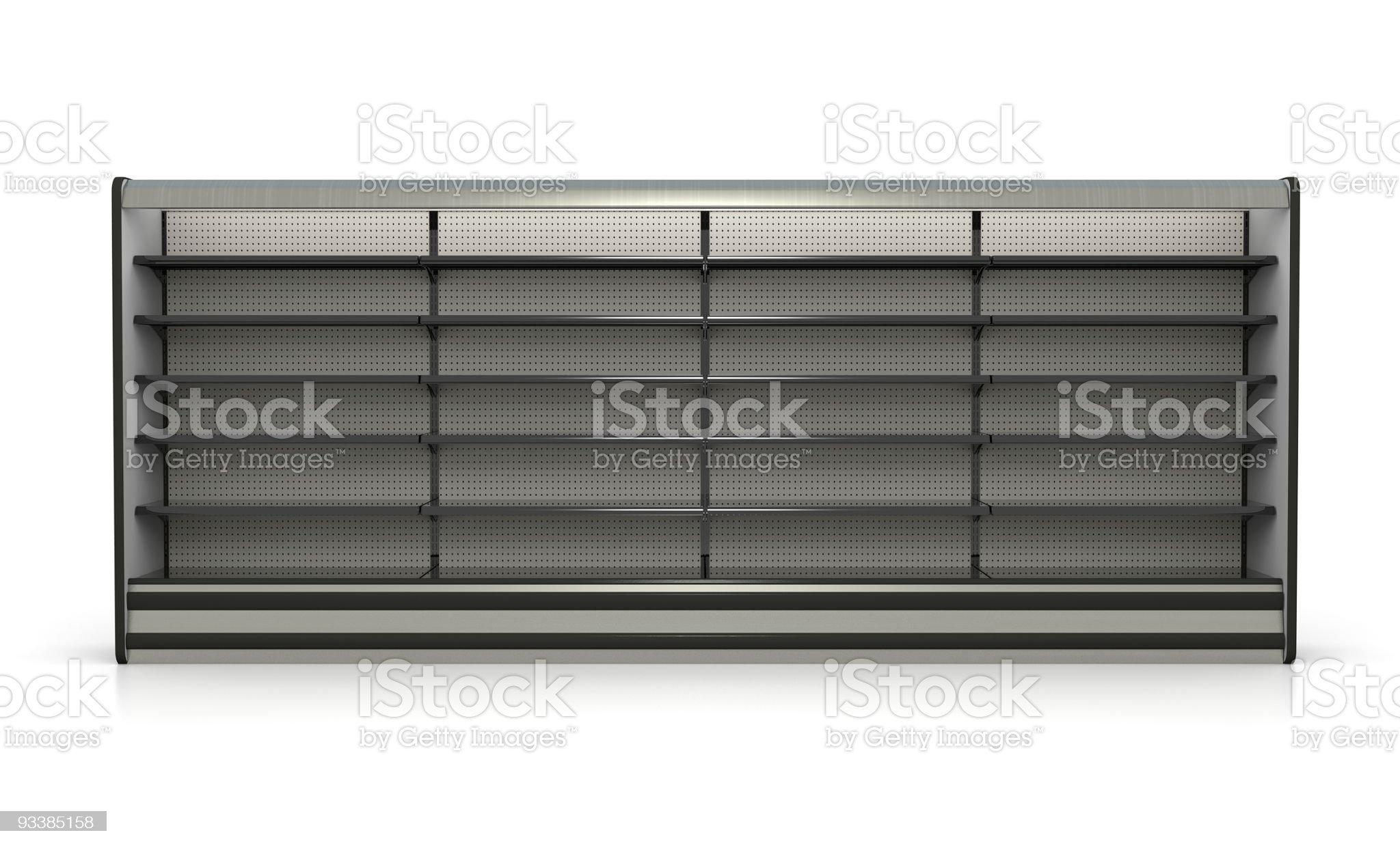 Dairy Case Refrigerated Store Shelves - Retail Environment royalty-free stock photo