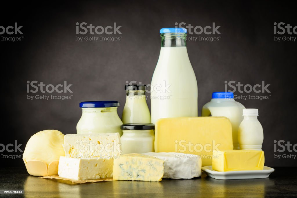 Dairy, Cheese and Milk Products stock photo