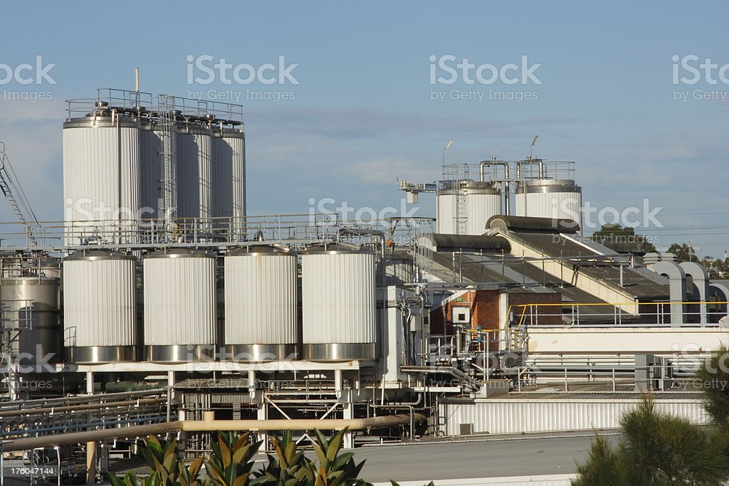 Dairy Factory stock photo