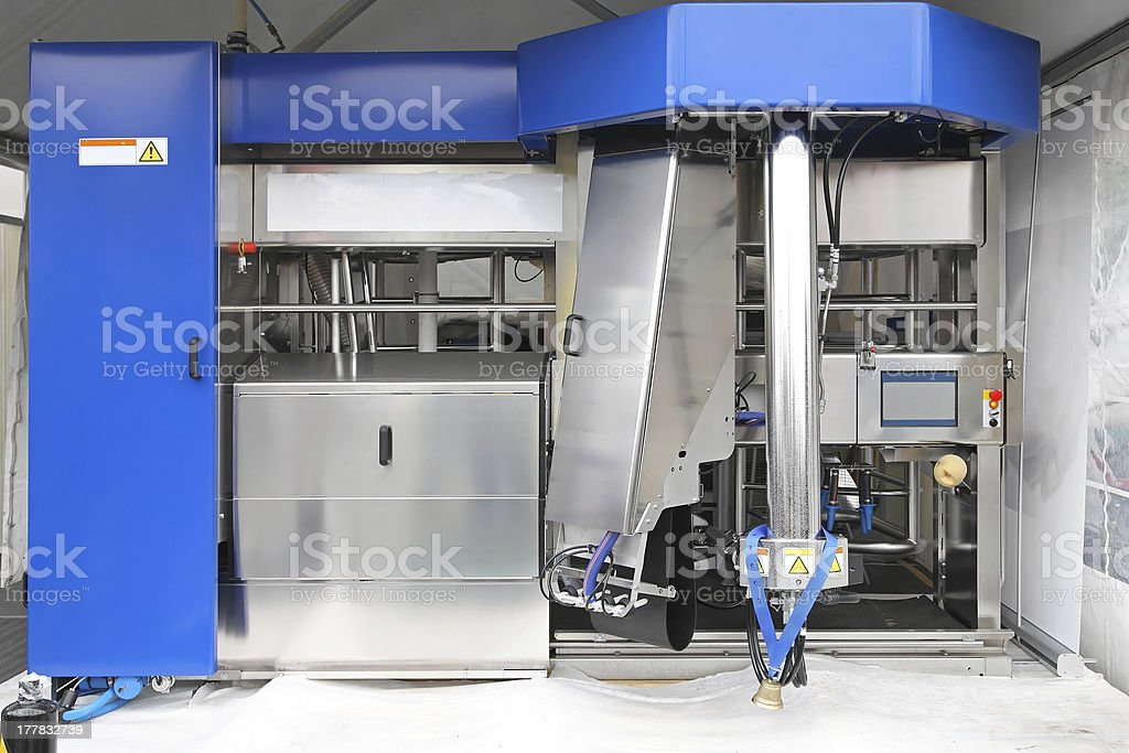 Dairy milk production stock photo
