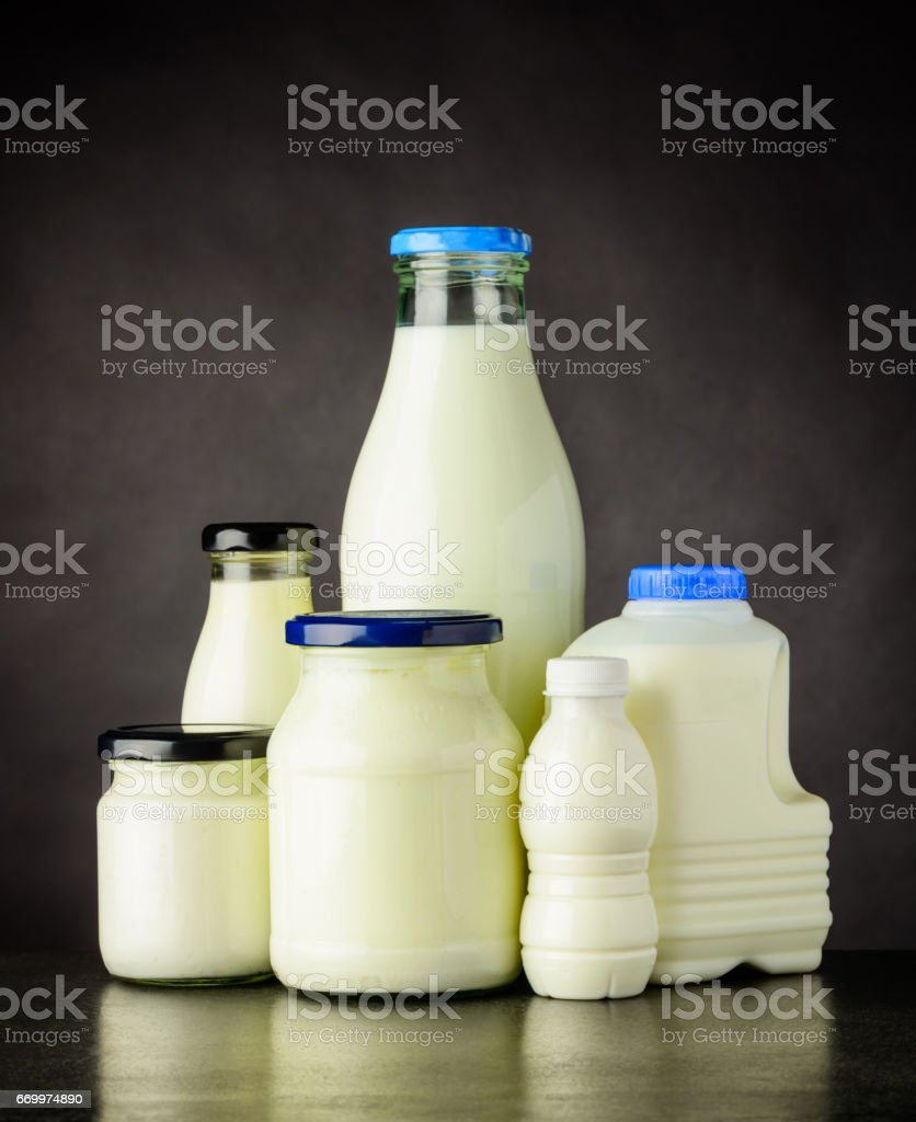 Dairy Milk Products stock photo