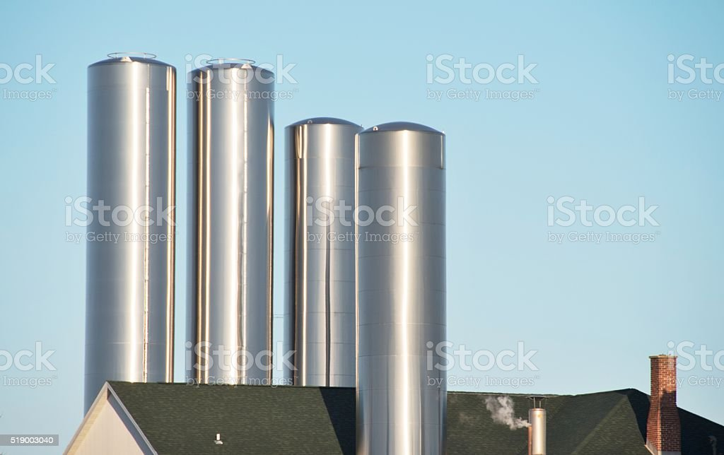 Dairy Plant stock photo