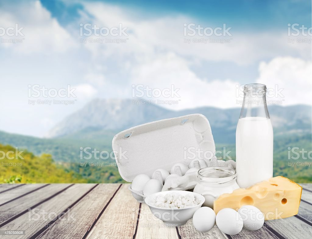 Dairy Product, Milk, Cheese stock photo