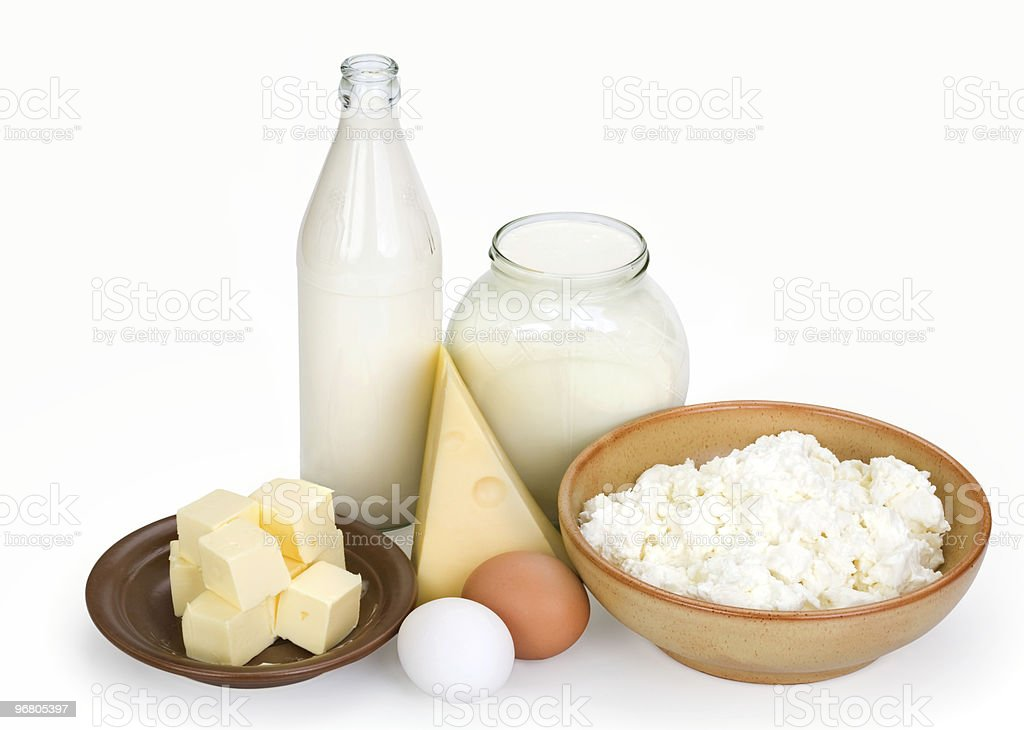 dairy products and eggs royalty-free stock photo